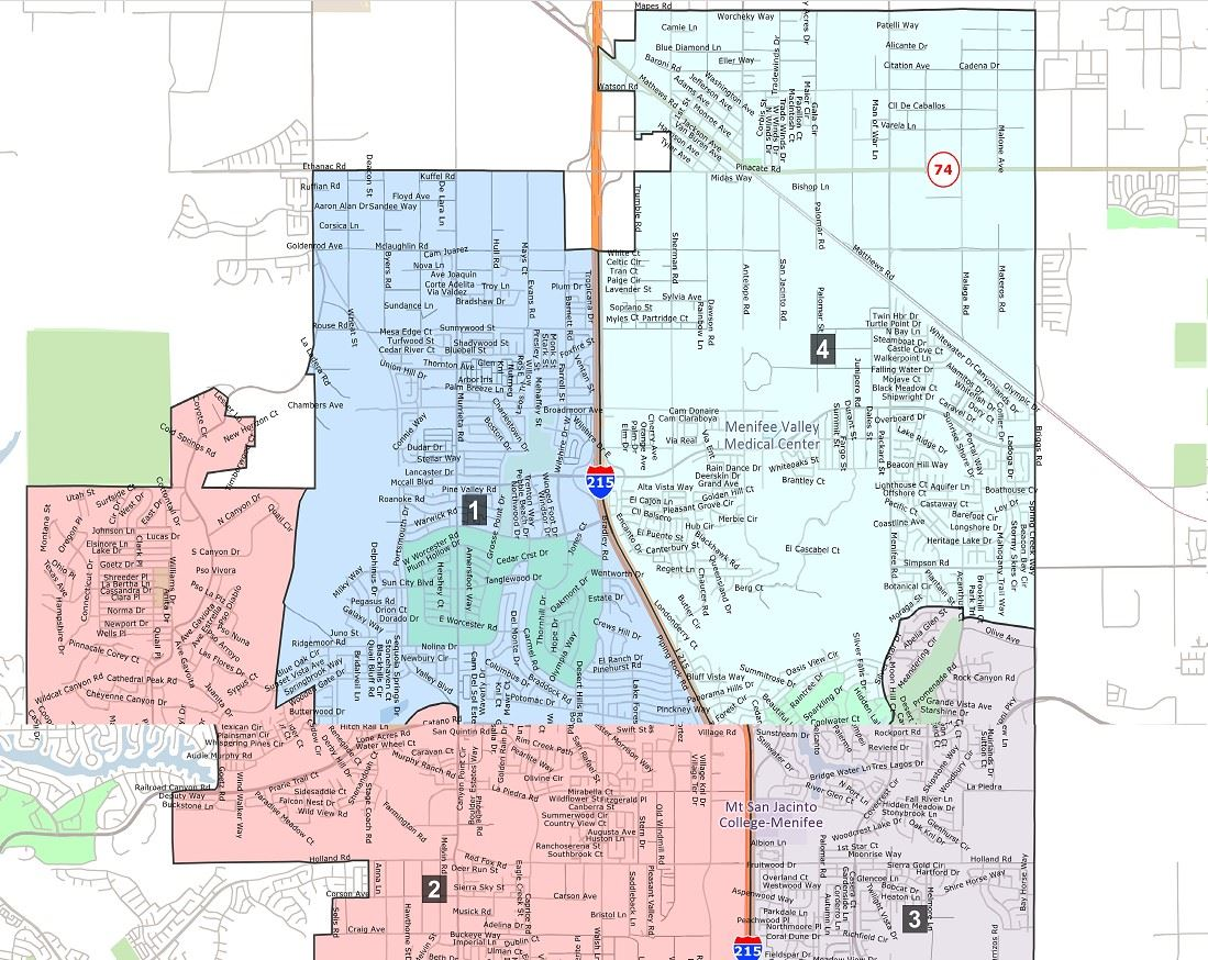 City of Menifee Voting Districts