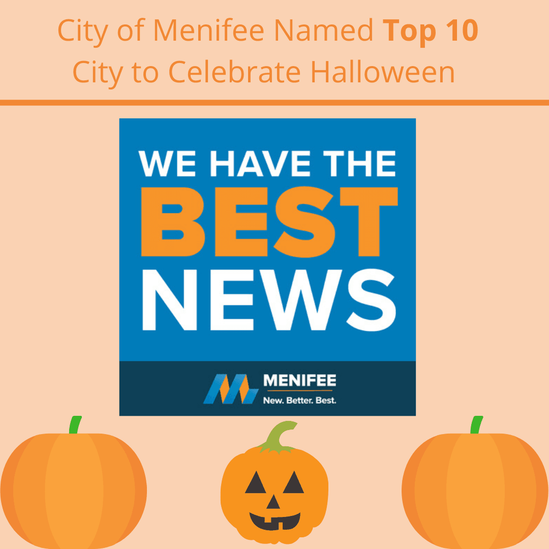 City of Menifee Named Top 10 City to Celebrate Halloween
