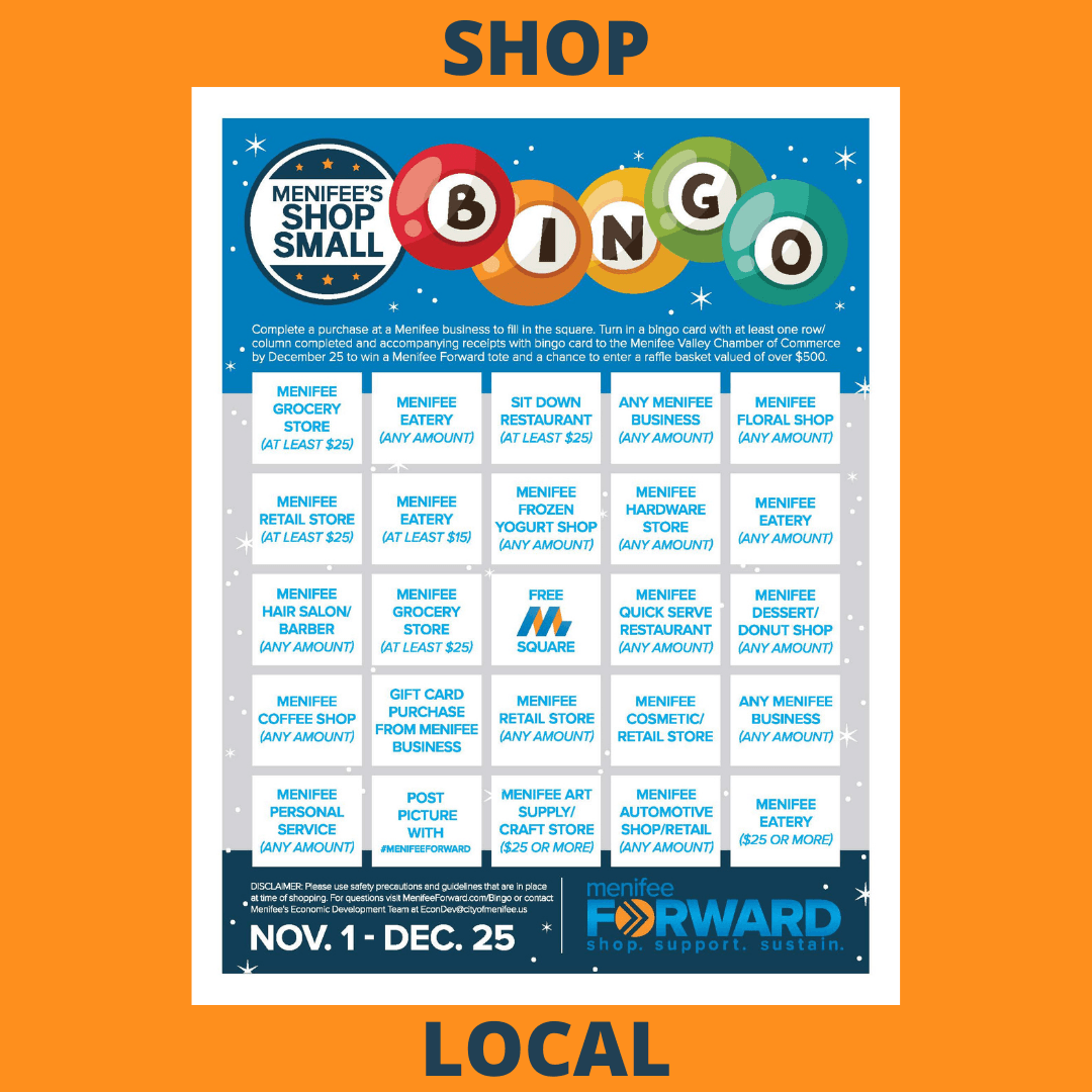 Shop Local BINGO Card