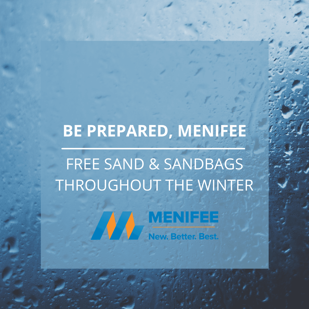 FREE SAND and SANDBAGS Notice
