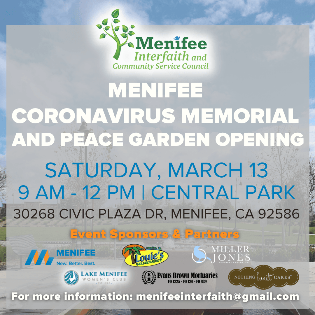 Menifee Coronavirus Memorial and Peace Garden
