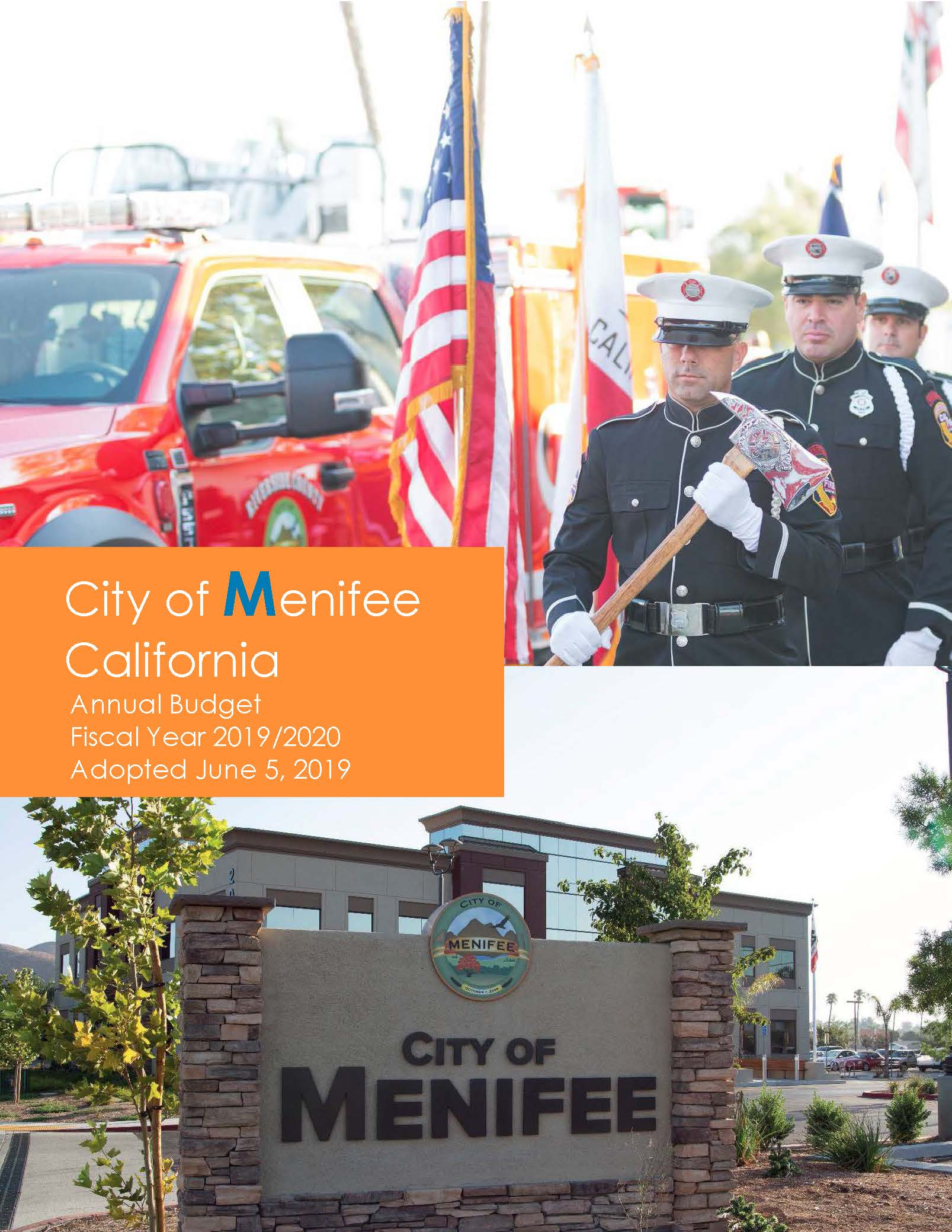 City of Menifee Adopted Budget Fiscal Year (FY) 2019-20