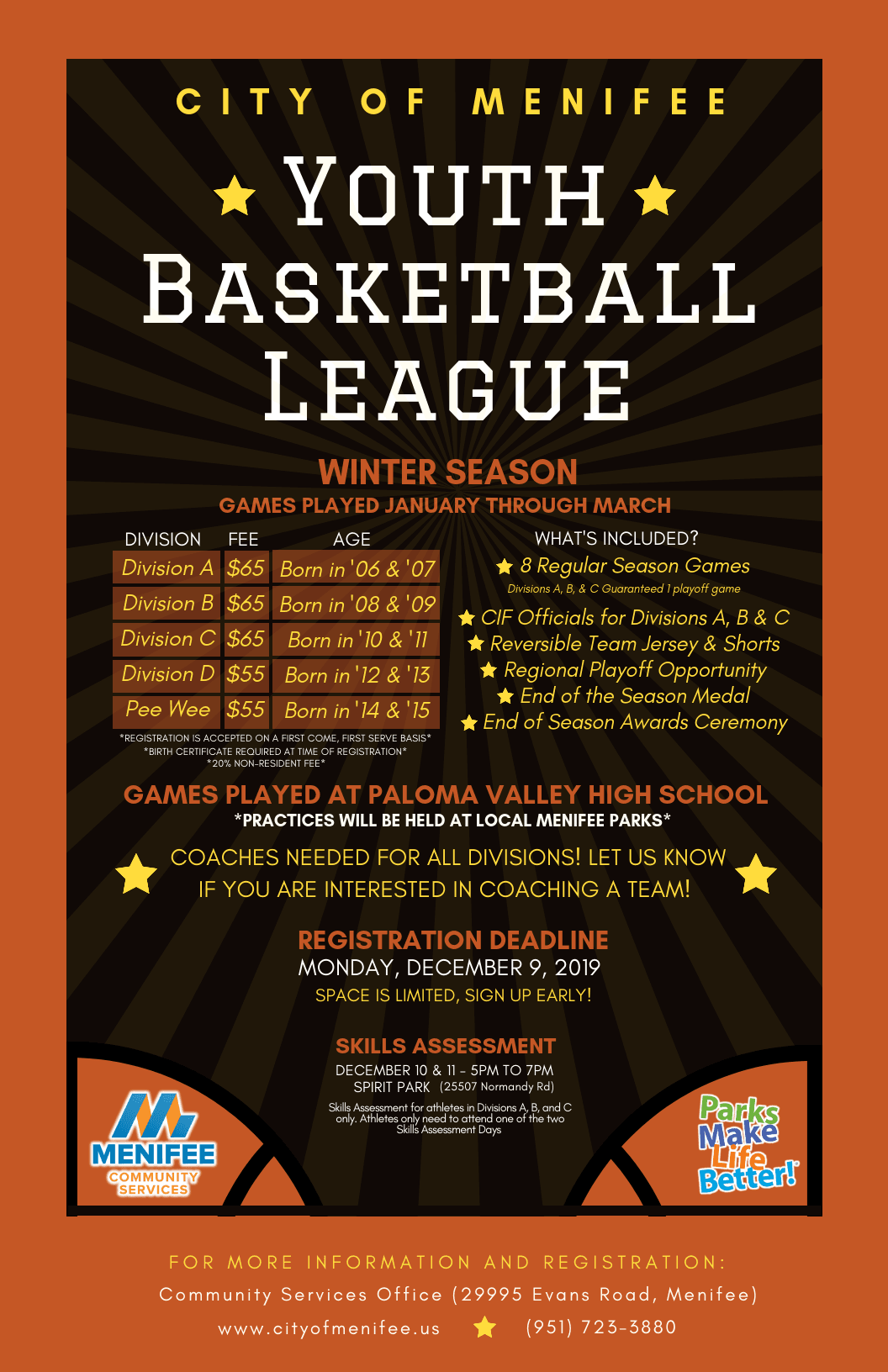 Youth Basketball League - Poster