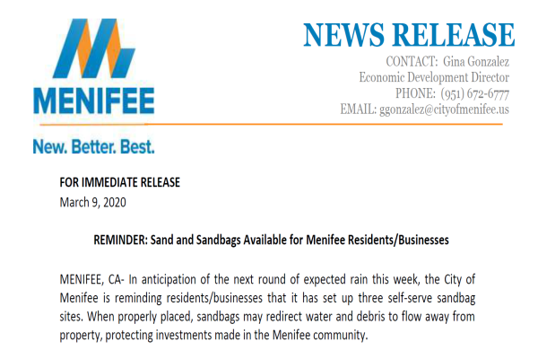 Sandbags News Flash