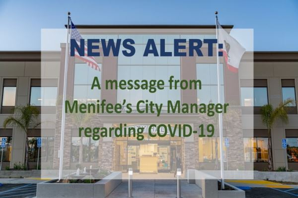City Manager COVID 19 message