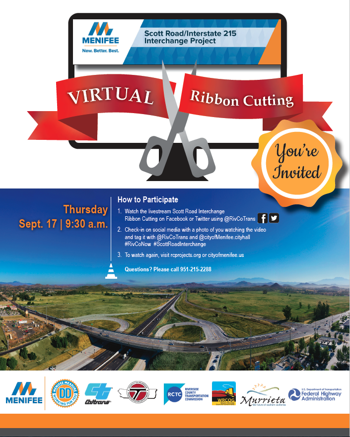 Scott Road Ribbon Cutting Invitation